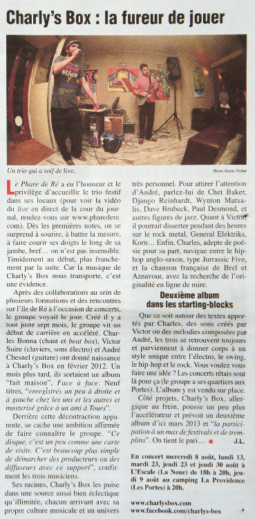 Charly's Box dans le Phare de Ré !