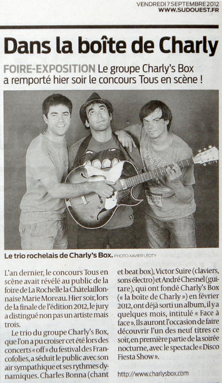 Charly's Box dans le Sud Ouest !