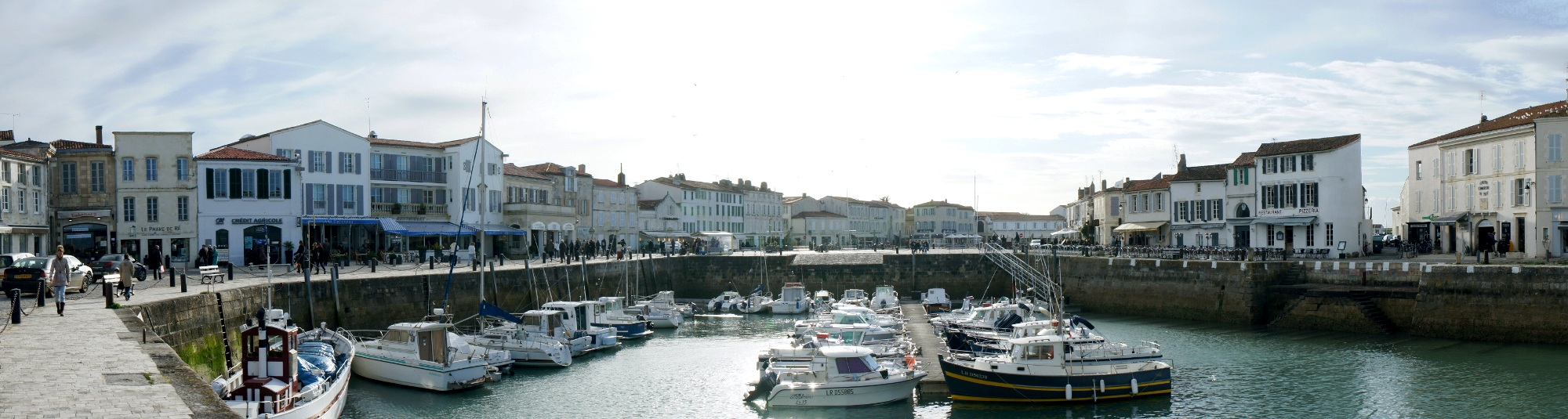 Vue panoramique du port de Saint-Martin de Ré